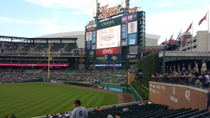 Comerica Park for KC Royals vs Detroit Tigers